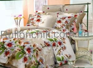 Красивое комбинированное постельное белье из бязи